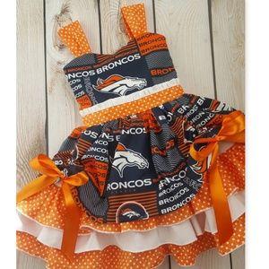 Exclusive Bella Bee Broncos Ruffle Dress